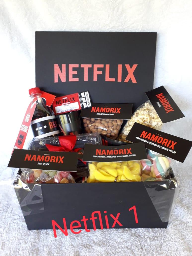 Cesta Netflix versão 1  Promoção de R$ 170,00 por R$ 150,00 mais taxa de entrega